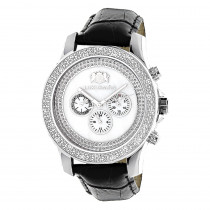Luxurman Watches Mens Diamond Watch .25ct White Freeze