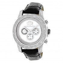 Luxurman Watches Mens Diamond Watch .50ct White Freeze