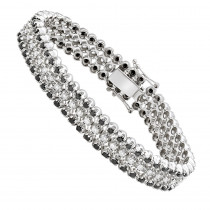 Luxurman White and Black Diamond Tennis Bracelet For Men in 10k Gold 8.5ct