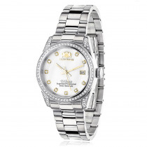 Luxurman Women's Diamond Watch Stainless Steel Tribeca 1.5ct