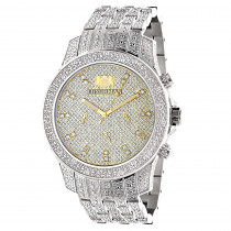 Luxurman Wrist Watches Mens Diamond Watch 1.25ct