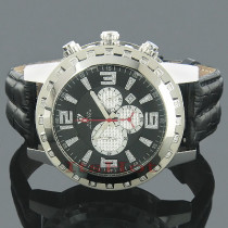 Mens Aqua Master Diamond Watch 0.24ct Black