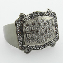 Mens Black Diamond Ring 1.15ct 10K