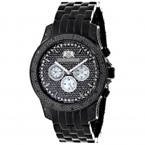 Mens Black Diamond Watch 0.50ct LUXURMAN Designer Watches