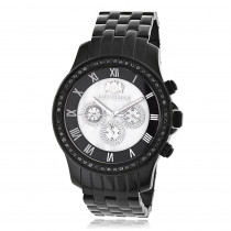 Mens Black Diamond Watch by LUXURMAN 2.25ct