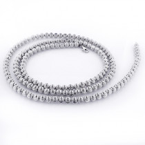 Mens Chains: White Gold Ball Moon Cut Chain 10K 4mm 22-30in