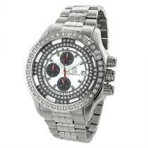 Mens Chronograph Richard Co Diamond Watch 1ct