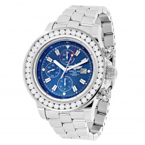 Mens Custom Breitling Super Avenger Diamond Watch 7ct