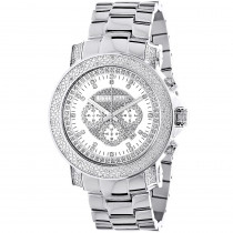 Mens Diamond Chronograph Watch by Luxurman 0.75ct Escalade