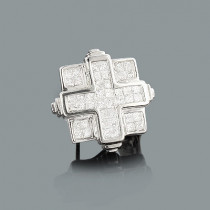 Mens Diamond Earring 0.98ct 14K Gold Single Stud
