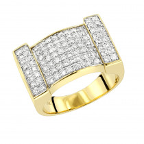 Mens Diamond Gold Ring by Luxurman 1.5ct 14K Gold