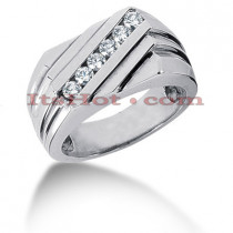 Men's Diamond Ring 0.48ct 14K Gold