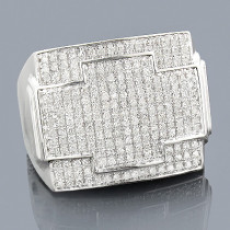Mens Diamond Ring 0.88ct 10K Gold