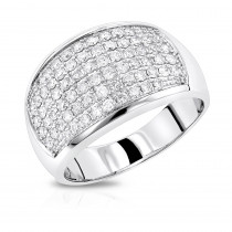 Mens Diamond Rings: 14K Gold Diamond Band by Luxurman 1.5ct