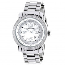 Mens Diamond Watch 0.12 ct Iced Out Luxurman
