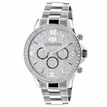 Mens Diamond Watch 2ct by Luxurman White Gold Plated