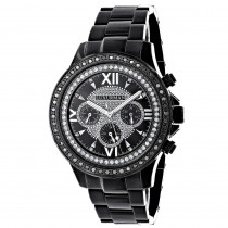 Mens Diamond Watches: Luxurman Black Diamond Watch 2ct Liberty