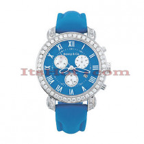 Mens Fine Diamond Watches Benny Co Watch 3ct Blue