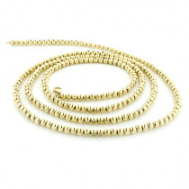 Mens Gold Chains: Yellow Gold Ball Moon Cut Chain 10K 4 mm