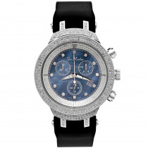Mens Joe Rodeo Diamond Watch 2.20ct Master Blue MOP