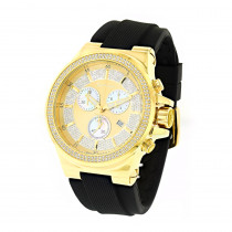 Mens Joe Rodeo Liberty Diamond  Watch 1.5ct Yellow Gold Plated