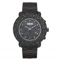 Mens Joe Rodeo Watches: Blue Black Diamond Watch 4.25ct