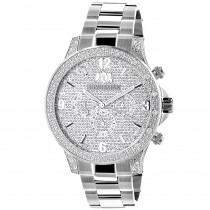 Mens Luxurman Diamond Watch 0.5ct Liberty Swiss Quartz