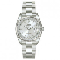Mens ROLEX Oyster Perpetual Datejust Watch Silver