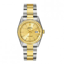 Mens ROLEX Oyster Two-Tone Watch Perpetual Datejust