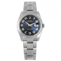 Mens ROLEX Oyster Watch Perpetual Datejust Blue
