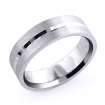 Mens Simple Wedding Band Solid Platinum