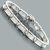Mens Sterling Silver Bracelets: Diamond Bracelet 0.56ct