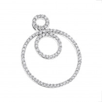 Multi Circle Diamond Pendant 0.55ct 14K Gold