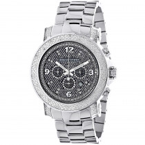Oversized Diamond Watches: Luxurman Mens Diamond Watch 0.75ct