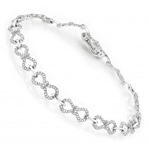 Pave Bracelets 14K Gold Ladies Diamond Bracelet 0.5ct