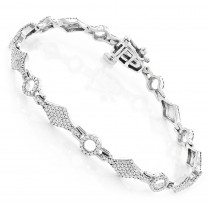 Pave Bracelets 14K Gold Ladies Diamond Bracelet 1.1ct