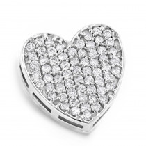 Pave Diamond Heart Pendant 0.71ct 14K