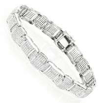 Pave Real Diamond Bracelet 10K 4.71ct