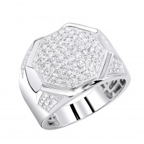 Pinky Rings: 10K Gold Diamond Ring for Men 1.5ct by Luxurman