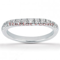 Thin Platinum Diamond Engagement Band 0.30ct