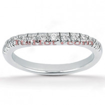 Thin Platinum Diamond Engagement Band 0.33ct