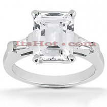 Emerald Cut Platinum Diamond Engagement Ring 1.12ct