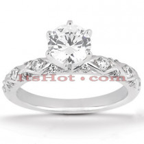 Platinum Diamond Engagement Ring 1.24ct