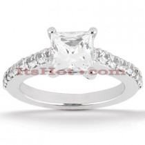 Platinum Diamond Engagement Ring 1.30ct