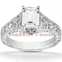 Platinum Diamond Engagement Ring 1.39ct