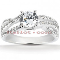 Platinum Diamond Engagement Ring 1.42ct