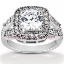Platinum Diamond Engagement Ring 1.54ct