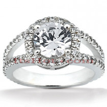 Platinum Diamond Engagement Ring 1.72ct