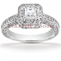 Platinum Diamond Engagement Ring 1.98ct