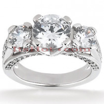 Platinum Diamond Engagement Ring 2.13ct